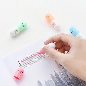 Image 2 - 48 pcs/Lot Capsule surligneur marqueur stylo Mini pilule couleur dessin liner stylos papeterie accessoires de bureau fournitures scolaires FB869