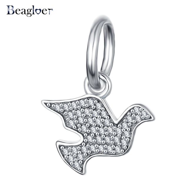 Beagloer trendy pure 925 sterling silver peace dove pendants charm beagloer trendy pure 925 sterling silver peace dove pendants charm fit bracelet necklace engagement accessories psmb0409 aloadofball Choice Image
