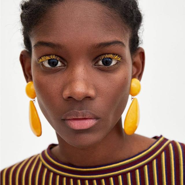 Dvacaman Jewelry Fresh Candy Multi Colors Rhinestone Drop Earrings Fashion Water
