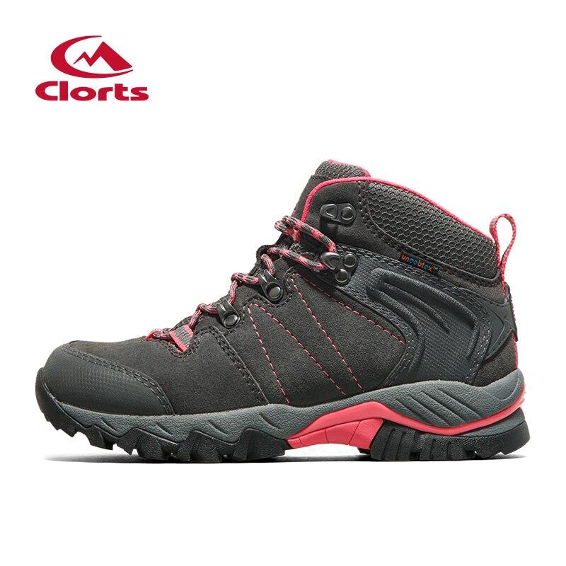 Clorts Femmes Chaussures de Randonnée Imperméable de Randonnée Bottes de Montagne En Plein Air Bottes En Daim En Cuir Escalade Chaussures HKM-822B/C/E/F
