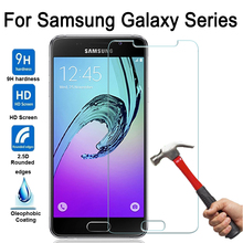 For Samsung Galaxy A3 A5 A7 Tempered Glass Display screen Protector For Samsung A3 A5 A7 2015 2016 2017 Show Cowl Safety Case