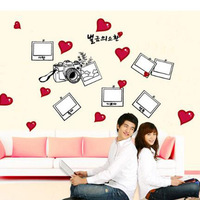 Heart Photo With Family Wall Sticker Quotes And Sayings Wallpaper Adesivos De Parede Wall Decals Home
