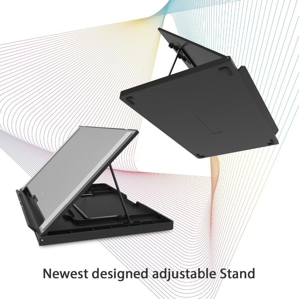 HUION KAMVAS Pro 13 GT-133 stylo tablette moniteur numérique tablette sans batterie stylo affichage dessin moniteur avec inclinaison Func AG verre - 5