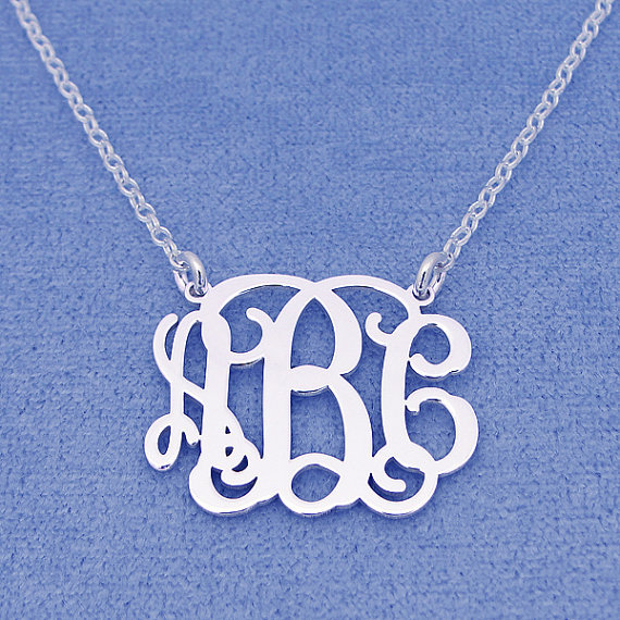 Buy custom sterling silver name necklace for Sterling silver christmas jewelry
