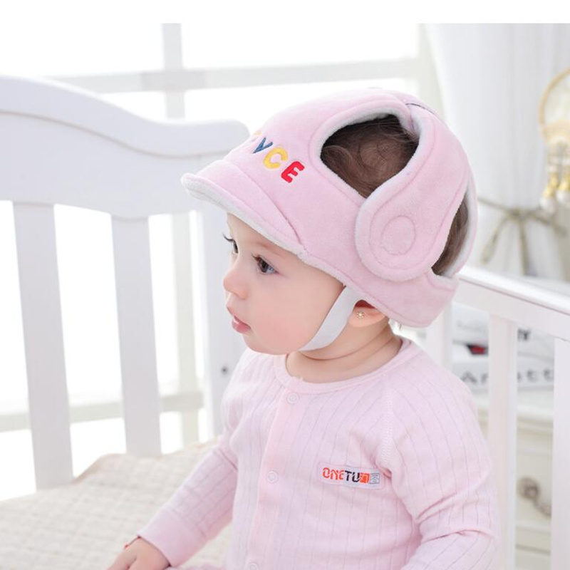 Baby Infant Head Protection Soft Hat Helmet Anti-collision Security Safety Helmet Sport baby play protective cotton caps 20% off