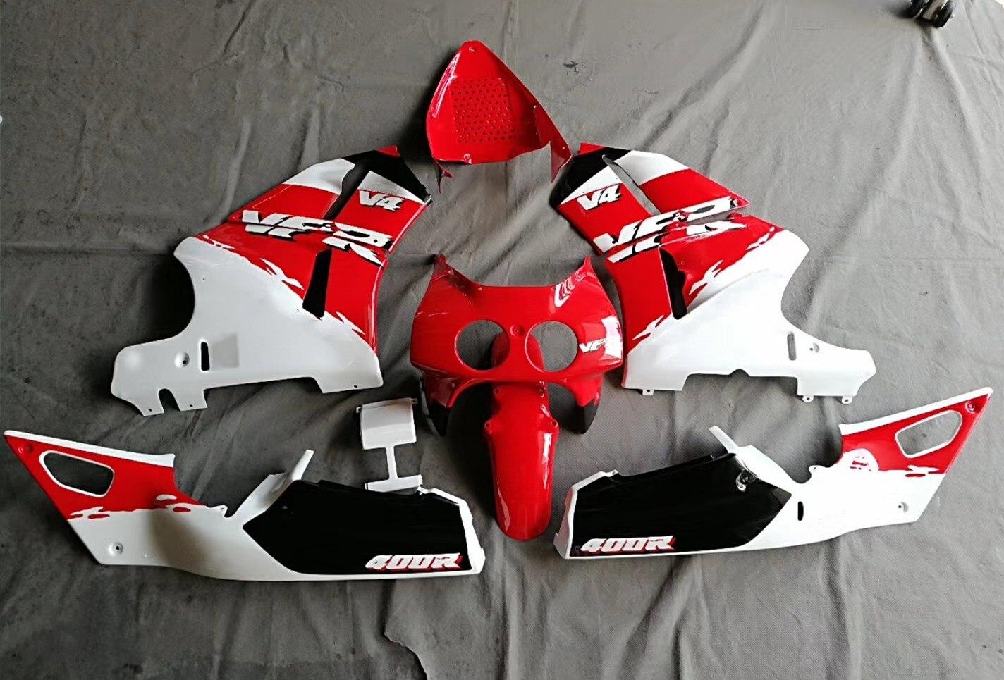 Motorcycle Bodywork Fairing Kit For Honda VFR400 VFR400R NC30 V4 VFR 400R 1989 1990 1991 1992 Fairings Injection Mold Red White