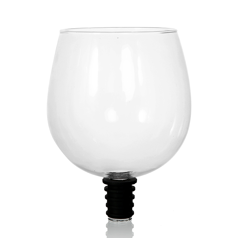 Nuevo y creativo tapón de botella de copa de vino tinto de cristal para beber-Convierte tu botella de vino en tu de vidrio de vino LuKLoy LED luces colgantes espejo bola de cristal fuegos artificiales lámpara colgante para desván restaurante Bar Comedor Cocina isla