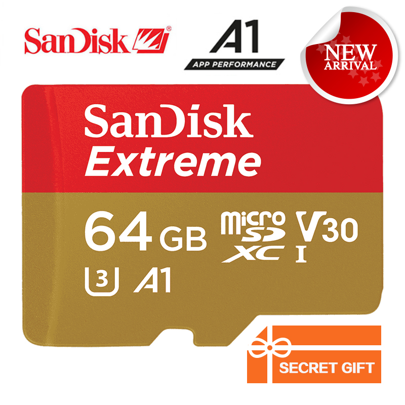 SanDisk Memory Card Extreme microSD UHS-I microSDXC Trans Flash TF Card Class10 U3 100MB/s 64GB with Adapter SDSQXNE-064G-ZN6MA 100% original sandisk microsd memory card 256gb 100mb s uhs i micro sd card class10 ultra microsdxc flash memory tf card