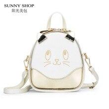 SUNNY SHOP kawaii Karton Frauen Backpck Für Mädchen Schultasche Für Teenager frauen tasche rucksäcke mini niedlichen tiere bagpack
