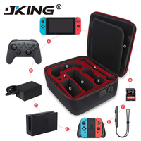 JKING Multifunction Storage Travel Carrying Bag Protective Cover Hard Shoulder Box Big Space Case For Nintend Switch NS Console
