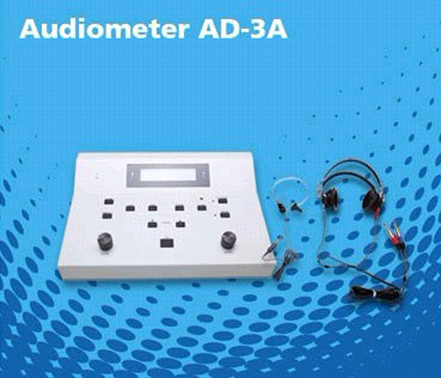 2 Channel Used Portable Clinical Audiometer in ear care digital PC audiogram hearing test  AD-3A Free Shipping