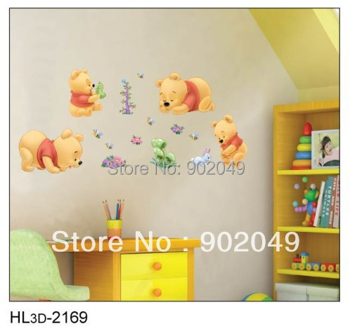 50x70cm Hot sale removable wall stickers lovely  wall decal stickers for kids rooms KW- HL3d-2169 free shipping