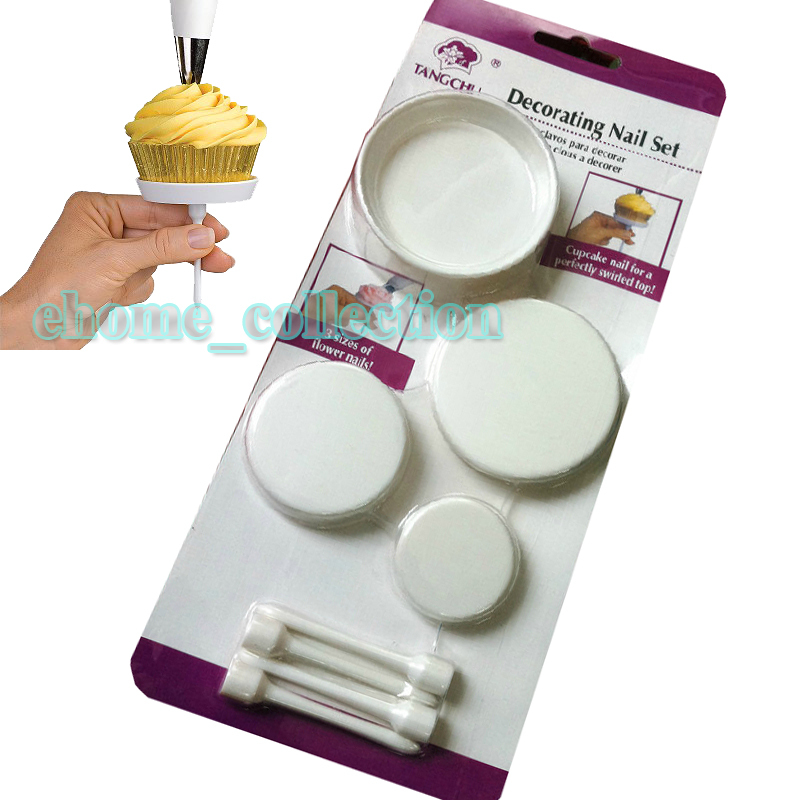 Butter Cream Cake Nails: 4Pcs/set Cake Cupcake Stands DIY Icing Cream Flower Nails