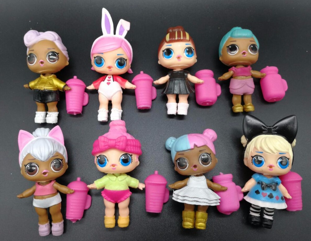8 PCS/sets of dolls can drink water Lol doll toy