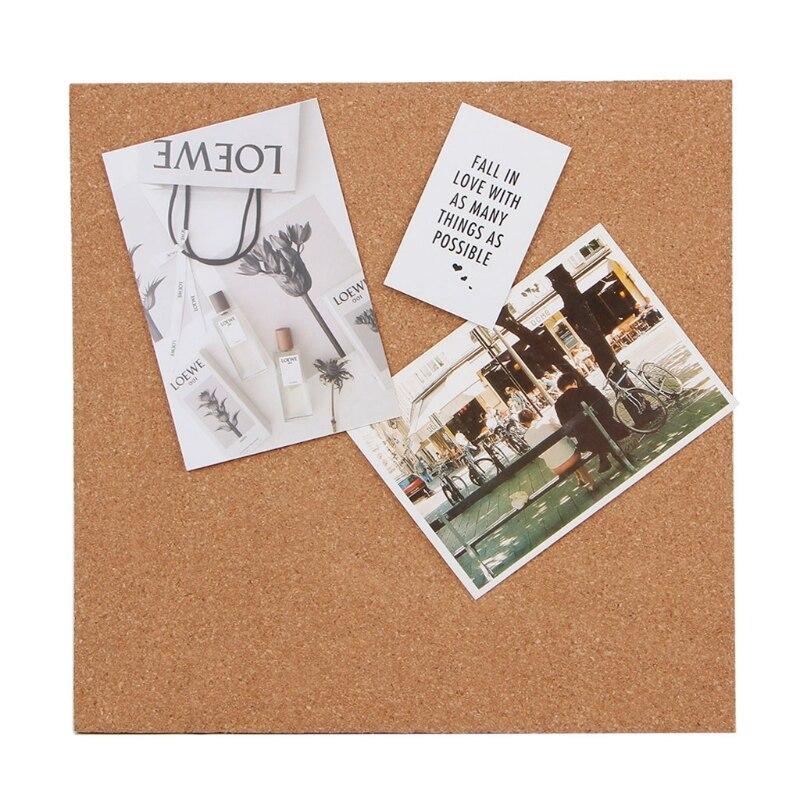 купить 30*30cm Quartet Cork Board Cork Stick Bulletin Memo Pin Board Photos Message Boards Wall Message Board For Office по цене 308.71 рублей