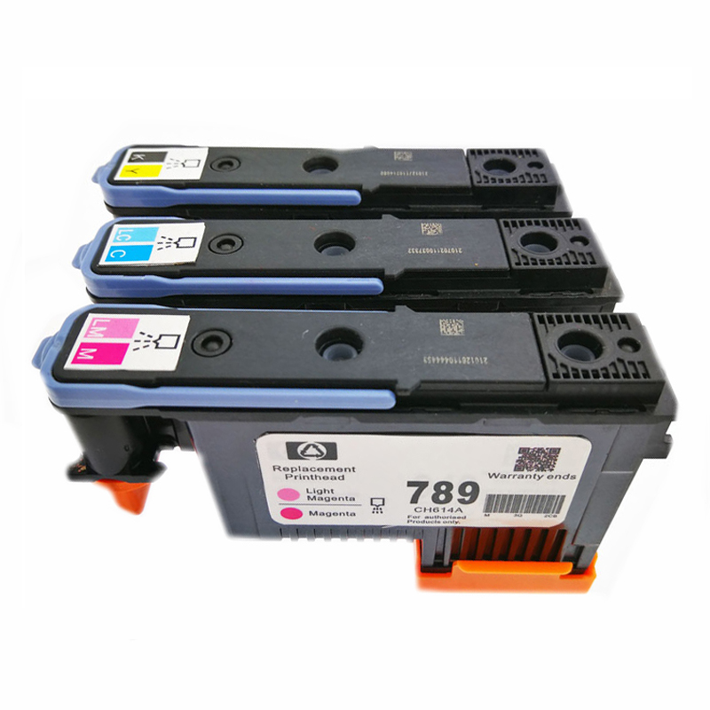 einkshop 1 Set For <font><b>HP</b></font> 789 <font><b>DesignJet</b></font> Printhead For <font><b>DesignJet</b></font> <font><b>L25500</b></font> Printer CH612A CH613A CH614A For <font><b>HP</b></font> 789 <font><b>designJet</b></font> Printheads image