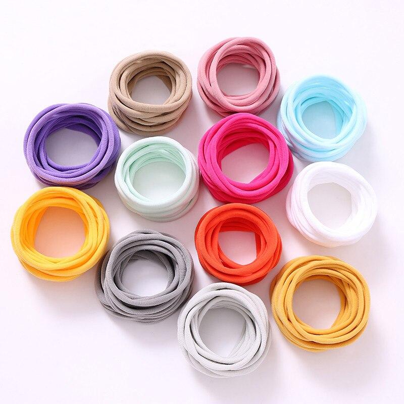 5200 Pcs/lot, Wholesale THIN Nylon Headbands, Soft Stretch Headband Nylon Baby Headbands