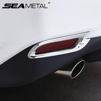 Para Toyota Camry octava XV70 2018 Niebla Del Frente del Coche Trasero Lámparas de Coche Cromo del ABS Cubierta de la luz de Tira de Ajuste-Tiras de estilo decoración