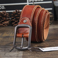 Male strap genuine leather pin buckle men's waist of trousers belt casual genuine leather first layer of cowhide DESIGNER BELT