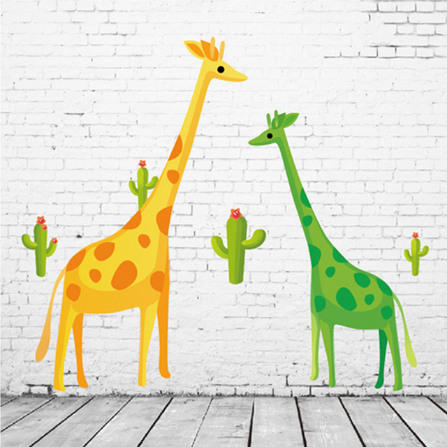 zs sticker big giraffe wall stickers wall stickers for kids room