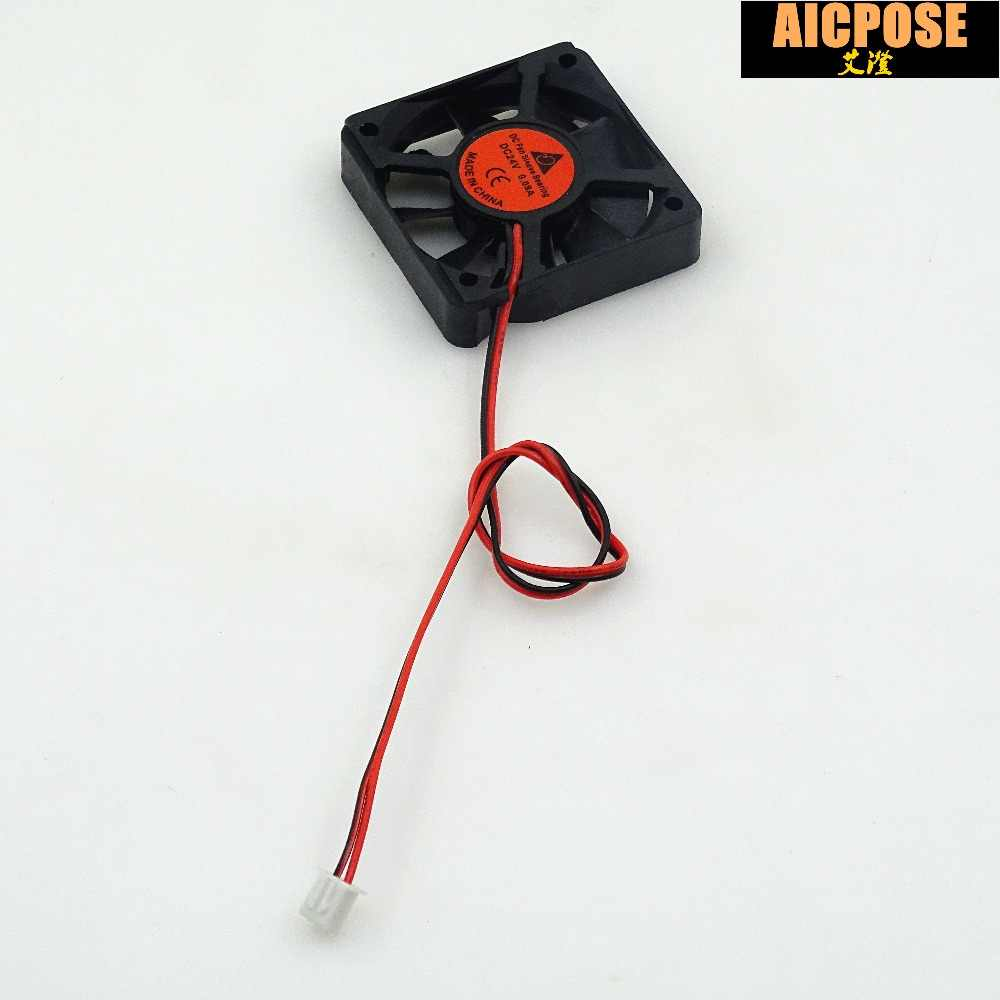 free shipping 10pcs 5x5 Silent fan 12v or 24v and Cable 15cm for use 5x5cm fans Led PAR Light Repair parts
