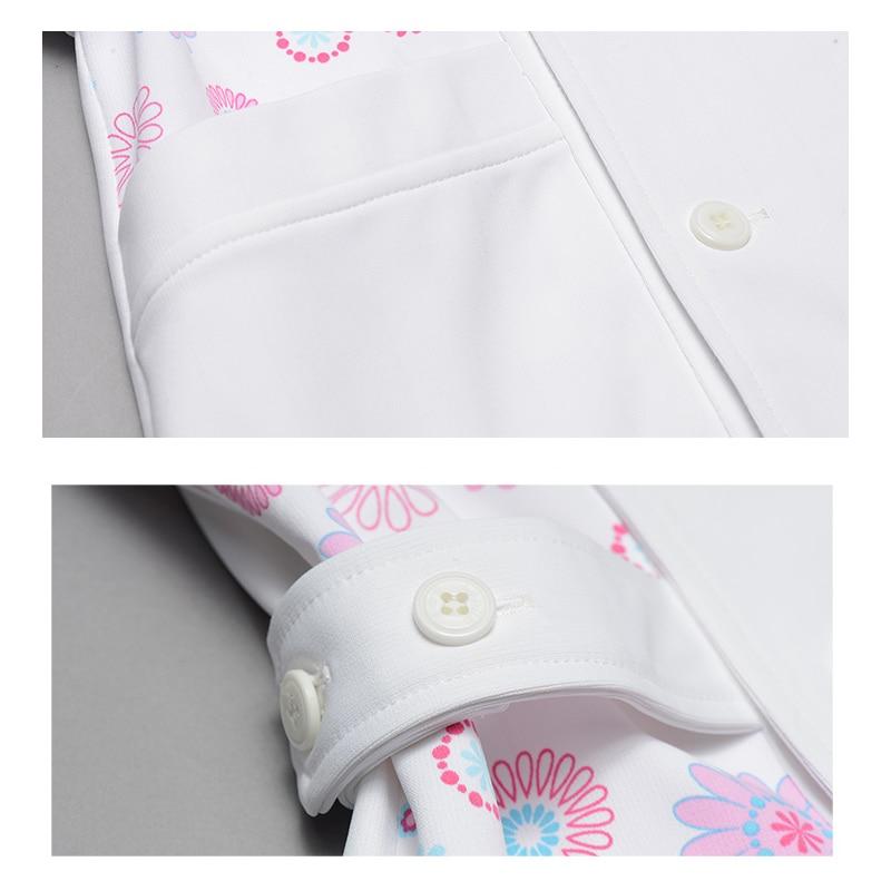 00299b6904c Daisies White Medical Scrubs Top Nursing Clothing for Women Y Neck Flex  Plus Size Workwear Hospital Clothes Top Nurse Scrub Tops-in Scrub Tops &  Bottoms ...