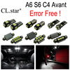 19pcs Canbus Error Free LED Bulb Interior Dome Light Kit Package For Audi A6 S6 C4