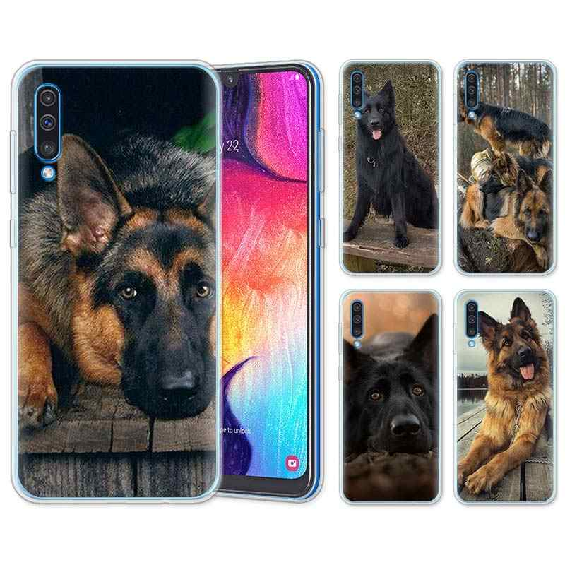 german shepherd dog Silicone Cases for Samsung Galaxy A10 A30 A40 A50 A70 A6 A7 A8+ A9 M30 M50 TPU Soft Phone