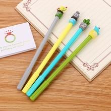 100 PCs Creative מכתבים קקטוס ניטראלי עט חמוד קריקטורה תלמיד מחט מים עט משרד אספקת Kawaii חתימת עט
