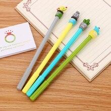 100 adet yaratıcı kırtasiye kaktüs nötr kalem sevimli karikatür öğrenci iğne su kalem ofis malzemeleri İmza Kawaii kalem