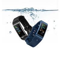 Touchscreen Bluetooth Smart Band for HUAWEI Band 3 /Band 3 Pro Metal Frame Amoled Color Display Waterproof Fitness Tracker