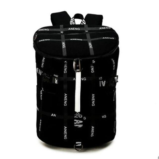 a59b52f402d1 Холст тренажерный зал рюкзак мешок мужчины женщины путешествия для хранения  ноутбука одного плеча сумки студент подарок