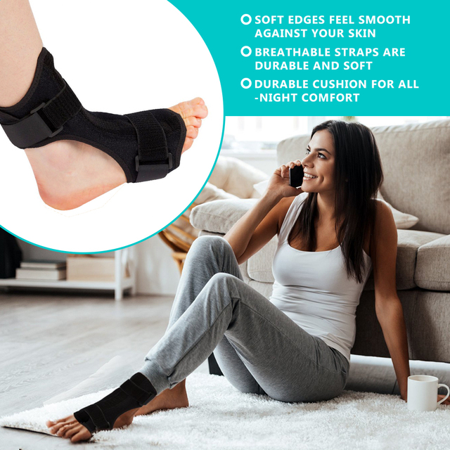 Plantar Fasciitis Dorsal Night & Day Splint Foot Orthosis Stabilizer Adjustable Drop Foot Orthotic Brace Support Pain Relief 5