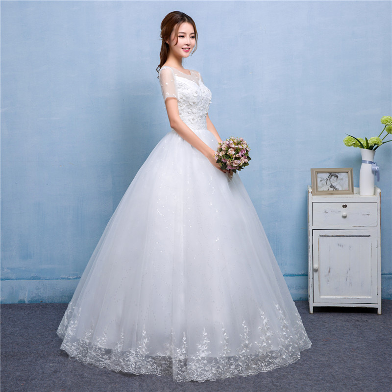 Real Photo Koreal Sytel Girls Wedding Dress 2017 New Spring Summer ...