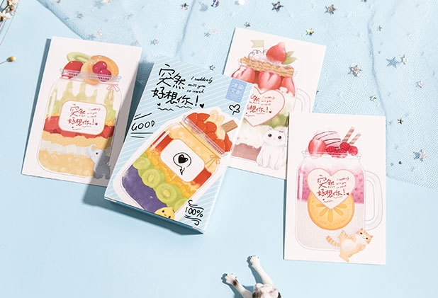 87mm*57mm Miss Suddenly Paper Greeting Card Lomo Card(1pack=27pieces)
