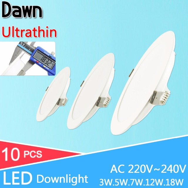 Ultra find LED Downlight AC 220V 240V 3W 5W 7W 12W 18W 2835SMD Down Find LED round panel light for Subsist Room Foyer Ceiling.