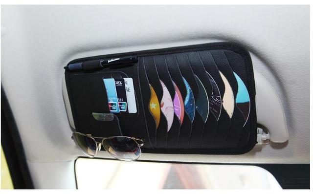 Stück auto auto sonnenblende cd dvd fall inhaber clipper für bmw