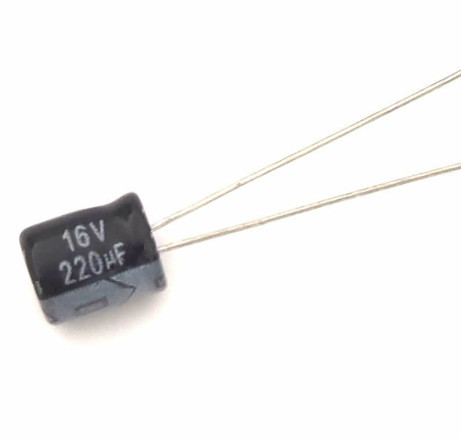 16V 220UF 220UF 16V  Electrolytic Capacitors Size:6X7 best quality New origina