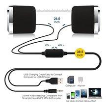 USB 2.0 Notebook Speakers Wired Stereo Mini Computer Speaker for Desktop
