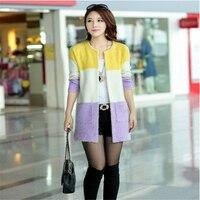 2016 Women Fashion Mohair Cardigans Casual Long Cardigan Women Sweaters For Ladies D308