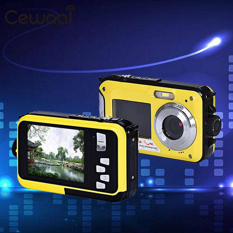Dual Screen Waterproof Camera Video 1080P Full HD Action Sports DV US Plug