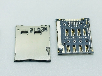 ALPS LCN TE LS NOTE3 S4-Zoom i9300 X909 S4MINI A3/5 T528 Micro Nano SIM Card Slot Tray Holder Connector Adapter PCB FPC 6/8/9PIN image