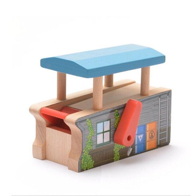 X084 Томас параболических машина игра сцена подходит Электрический Томас и Brio деревянный поезд развивающихся мальчиков/детские игрушки подарок