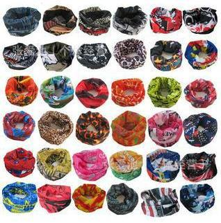 10 Pieces/pack Wholesale Cycling Outdoor Seamlessly Changeable Headband Scarf Bandana Bike Headband Magic Scarf Bike Headband