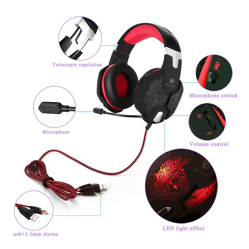 Fone De Ouvido Estéreo Microfone Gaming Headset
