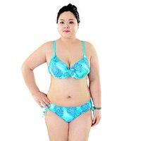 2016 Bikini Woman Swimwear Plus Size Swimsuit Swimsuit Push Up Big Large Size Two Pieces Swimwear