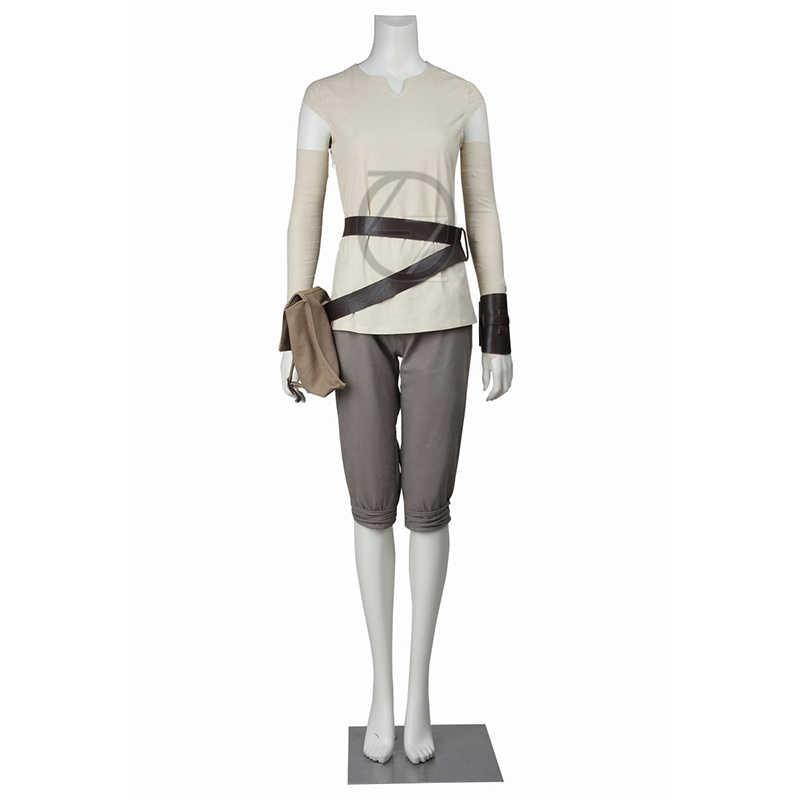 Star Wars The Force Awakens Rey คอสเพลย์เครื่องแต่งกายที่กำหนดเอง