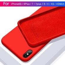 Luxury Liquid Silicone Case For iPhone X
