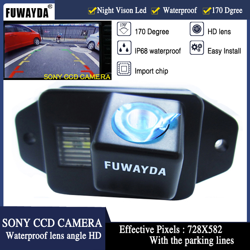 FUWAYDA SONY CCD Chip Car Rear View Reverse Backup Parking Safety CAMERA For Toyota Land Cruiser 120 150 Series Prado WATERPROOF