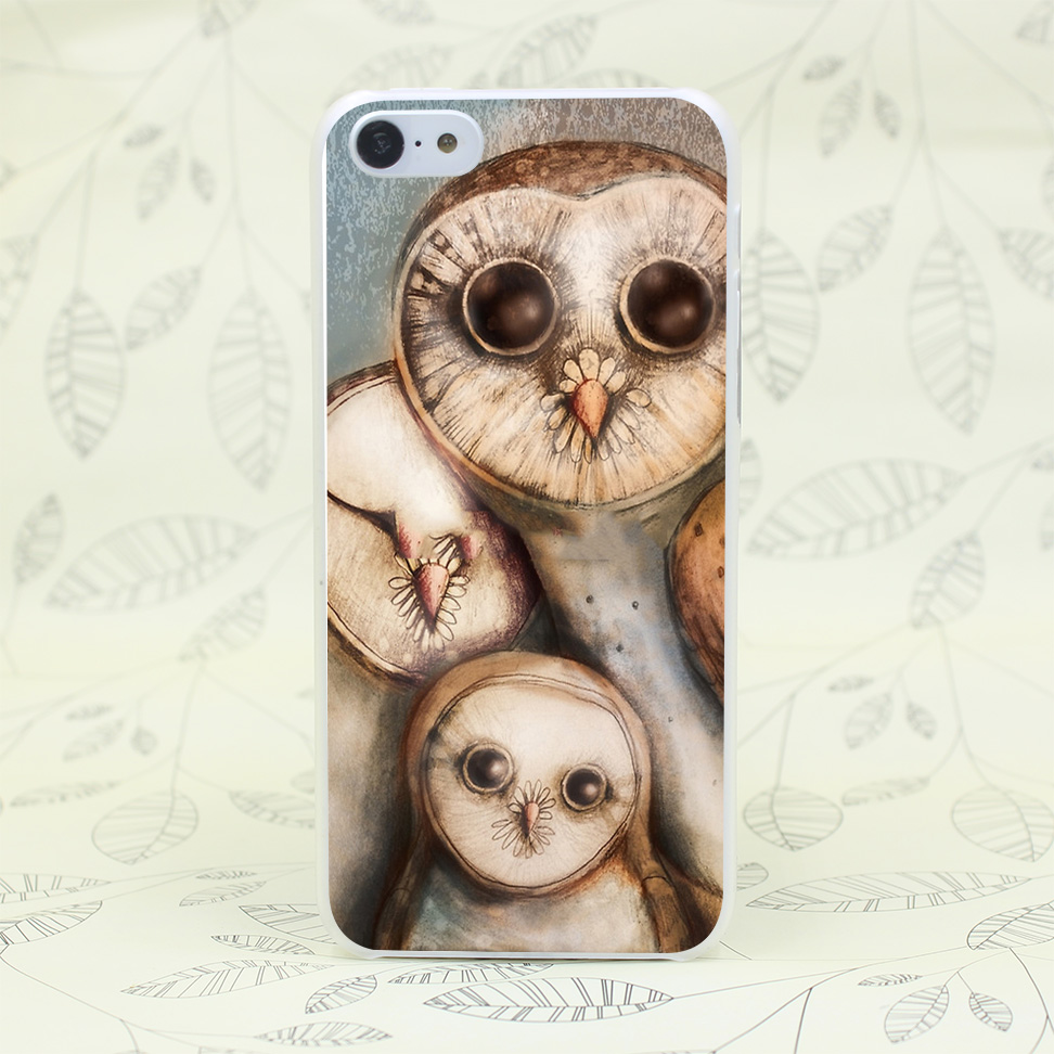 996F Three Wise Owls Hard Transparent Case Cover for iPhone 7 7 Plus 4 4s 5 5s 5c SE 6 6s Plus